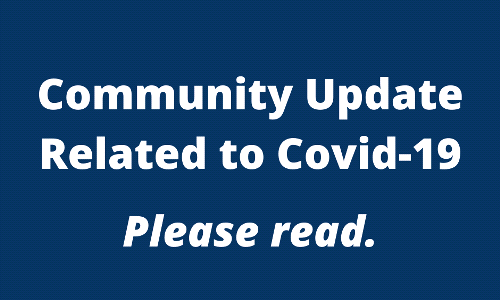 Community Update Related to Covid-19